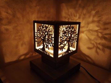 Drevené stolné lampy, svietidlá