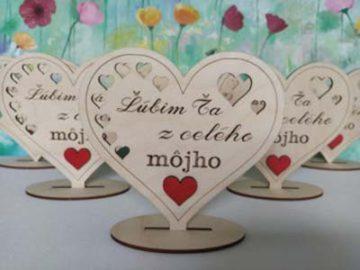 Srdiečka a tabuľky