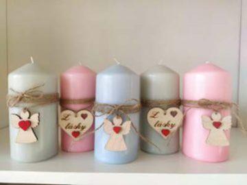 Dekorované sviečky